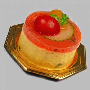 Bavarois de Tomate au Basilic