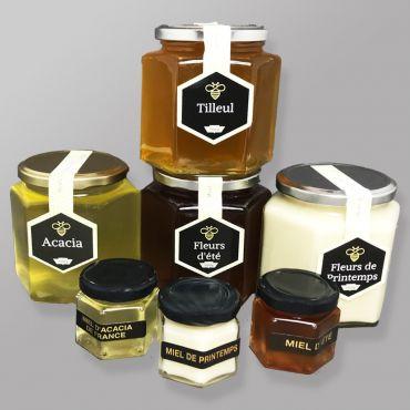 Miel de Pays - 3 mini pots de 55gr